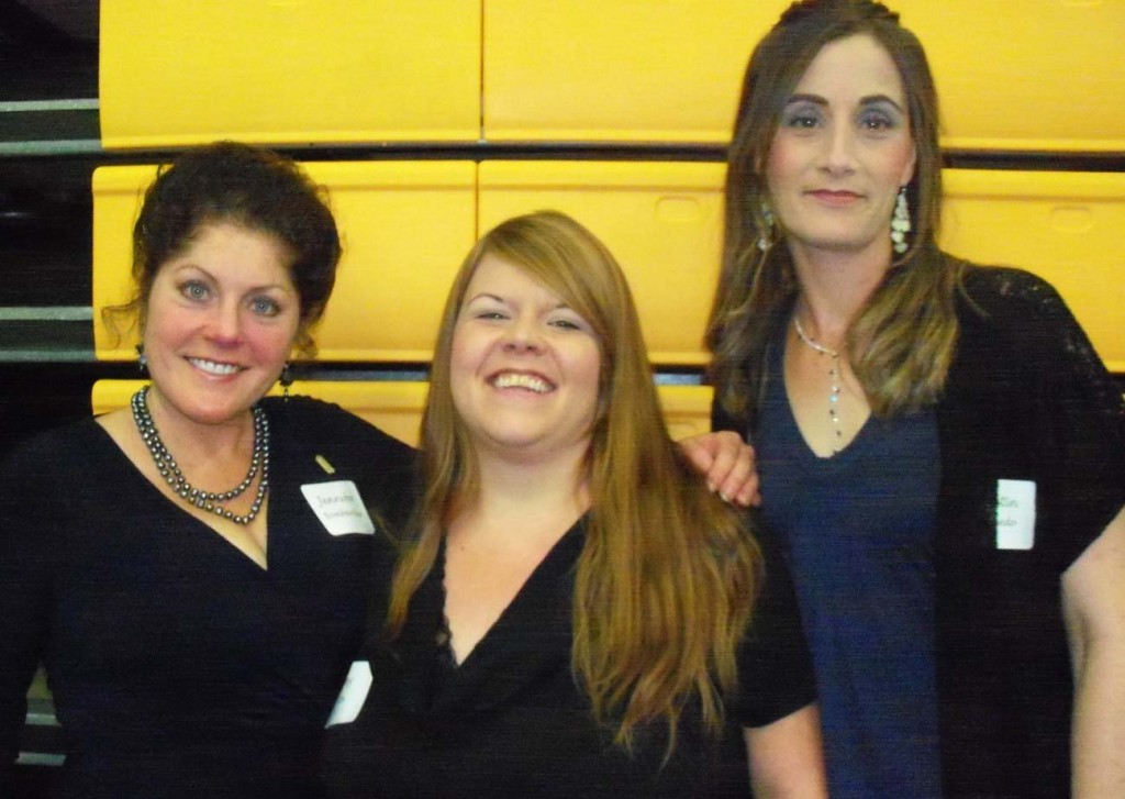 From the left are Jennifer Bombardier, Amy Cox in the center and Kristin Azevedo on the right.